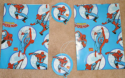 SPIDERMAN WRAPPING PAPER 30 SHEETS PLUS 30 MATCHING TAGS LESS THAN 12p AN ITEM !
