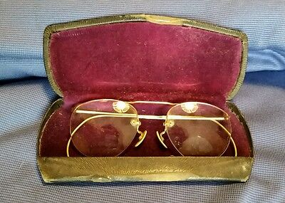 5a7a4043b2 Antique Wire Frame Eyeglasses 12K 1 10 GF Aviator Spectables Fexible Arm  True