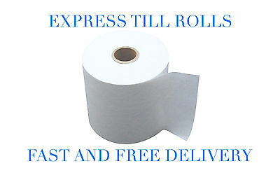 80 x 80mm Thermal Paper Till Receipt Rolls  **80 Rolls** (4 Boxes)