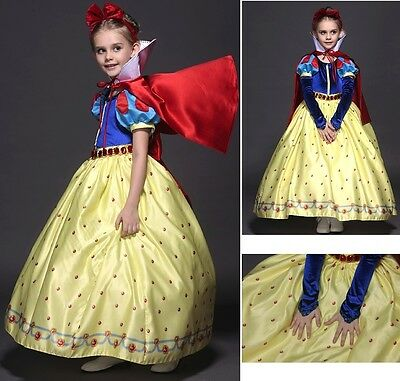 Biancaneve Vestito Carnevale Dress up Princess Snow White Deluxe Costume SNOW002