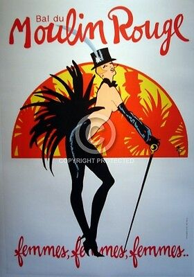 MOULIN ROUGE original 1965 FRENCH CAFE POSTER