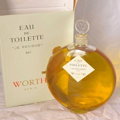 Worth Je Reviens JUMBO 36 oz-1000 ml Eau de Toilette, vintage
