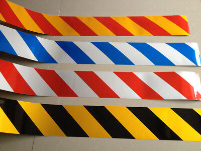 "Stripe Reflective Warning Caution Self Adhesive Tape Night Sticker 10cm 4"" Width"