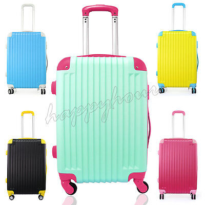 Hard shell 4 Wheels Trolley Hand Luggage Suitcase Cabin Travel bag Luggage Tags