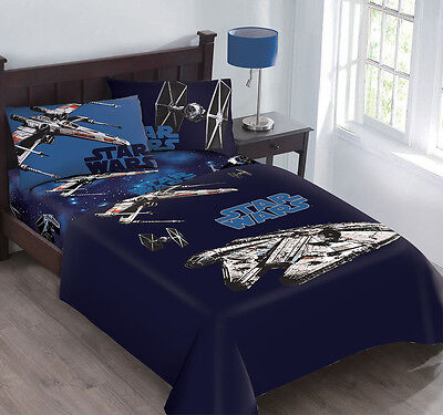 Disney Star Wars Star Fighter Super Soft Licensed Twin Size Reversible Comforter