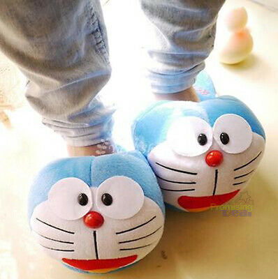 New Cute Doraemon Women Winter Home Soft Plush Slippers Shoes (US size 5-8)