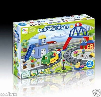Kids Play Train & Track Set Battery Operated Train with Bridge Pump Accessories