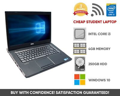 Cheap Home Office Student Laptop | Intel Core i3 | 4GB 250GB | Windows 10
