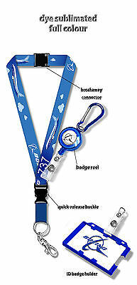 Boeing B737 Dye Sublimation Lanyard