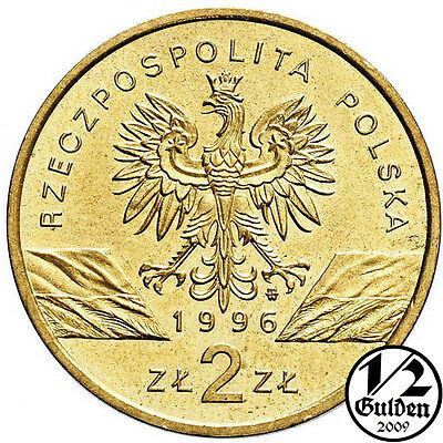 POLAND 2 Zlote 1996 Nordic Gold Coin Uncirculated Mint Condition