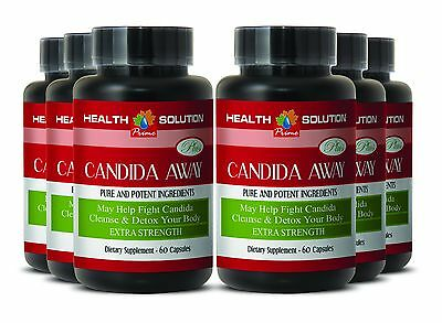 Candida Clear - Organic Detox CANDIDA AWAY Body Cleanse (6 Bot, 360 Caps)