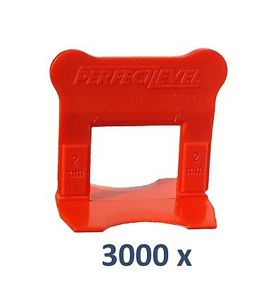Nivellement Carrelage 3000 Clips 2 Mm Perfectlevel Pro