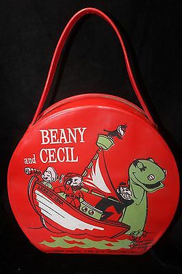 Vintage Beany & Cecil Red Vinyl Lunch Case/Carrying Case 1961 (Bob Clampett)