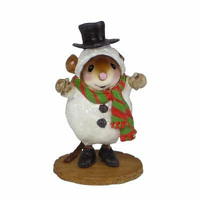SNOW MOUSE...SANDY by Wee Forest Folk, WFF# M-543, Wee Christmas Play New Series
