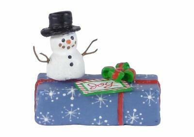 GIFT WITH SNOWMAN by Wee Forest Folk, WFF# A-34, Limited Edition 2015