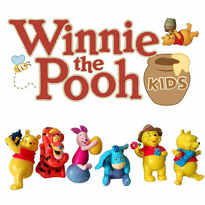 Winnie the Pooh Action Figure Kid Display Figurines Set Cake Topper Decor Toy
