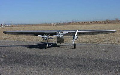 Ford Tri Motor 78 inch Wing Giant Scale RC Model AIrplane Printed Plans