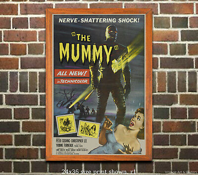 The Mummy #2 Vintage Horror Film Movie Poster [6 sizes, matte+glossy avail]