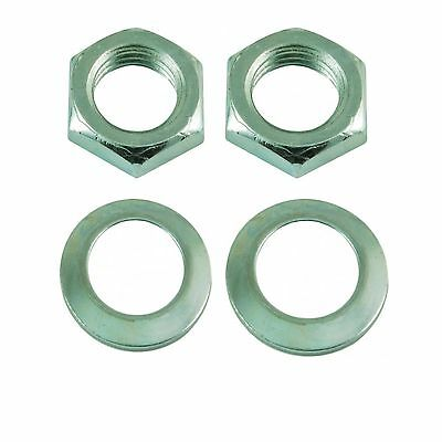 Roller Skate Toe Stop Lock Nuts and Washers - Set of 2