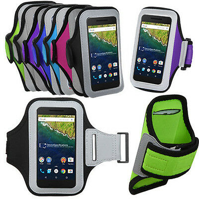 For GOOGLE NEXUS 6P (5.7) Gym Sports Running Armband Arm Band Case Holder Cover