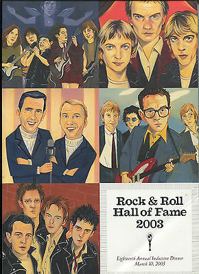 2003 Rock & Roll Hall of Fame Dinner Concert Program The Clash AC/DC Police