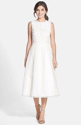 Ted Baker 'Lalia' Embellished Bodice Midi Dress ( Size 1-  2 US)