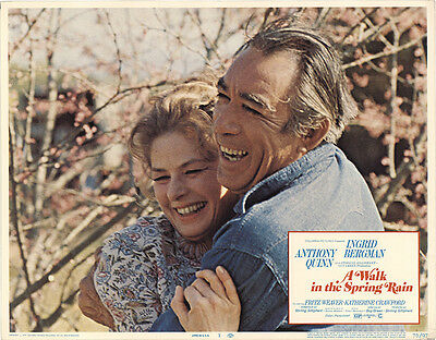 A Walk in the Spring Rain 1970 Original Movie Poster Anthony Quinn Drama