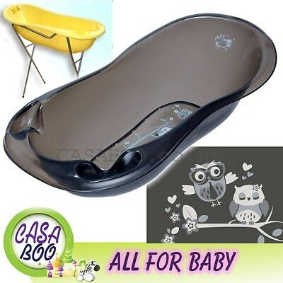 OWLS  LUX Large Baby Bath Tub with Stand + thermometer -102 cm-Great Price BLACK