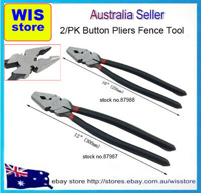 2/PK Fencing Plier Set 8 inch & 10 inch For Wire,Farm,Electric Fence,Bullnose