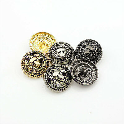 12PCS Lion Vintage New Metal Round Shank Buttons Coat Sewing Embellishment