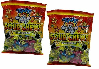 Bulk Lot 400 x TNT Sour Chews 2 Bags Lollies Candy Sweets Sours Party Favors New