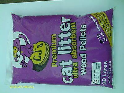 1 X 30lt {15kgs}CJs ULTRA ABSORBENT CAT LITTER,- RABBITS-POULTRY- CATS-REPTILE.