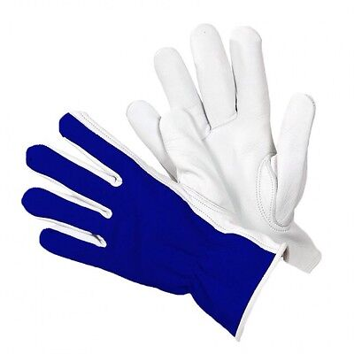 Briers Lined Dual Leather Gardening Gloves Blue