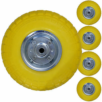 "10"" Puncture Proof Sack Truck Tyre Wheel Pu Solid Spare Replacement Cart Trolley"