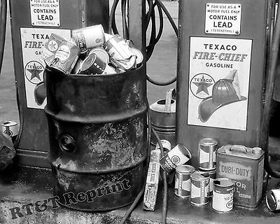 8x10 Snow Crown Photograph of a 1939 Texaco Gas Station in California