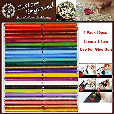 10pcs of 23 Color Wax Seal Stick Wedding Invitation Stamp Use for Glue Gun