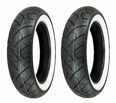 Shinko 130/90-16 & 150/80-16 777 HD White Wall Tires Harley, Kawasaki, Yamaha