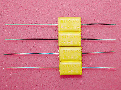 2 x NOS 0.1uF .1uF 400V Philips Chicklet MKC 341 HQ Polycarbonate Capacitors