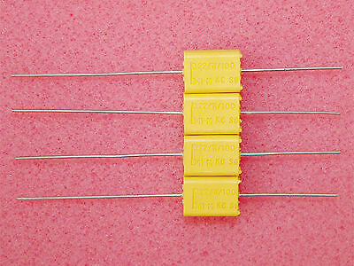 2 x NOS 0.22uF .22uF 100V Philips Chicklet MKC 341 HQ Polycarbonate Capacitors