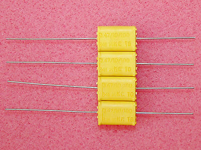 2 x NOS 0.47uF .47uF 100V Philips Chicklet MKC 341 HQ Polycarbonate Capacitors