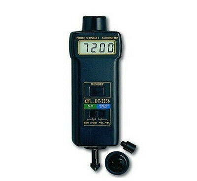 DT2236 Digital Photo/Contact Tachometer LCD Display DT-2236