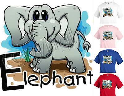 ELEPHANT animal T-shirt Children Kids Unisex Girl Boy Funny k13