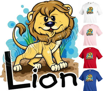 LION T-shirt Children Kids Unisex Girl Boy Funny k15
