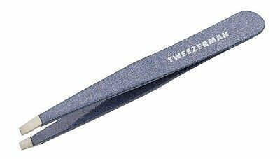 Tweezerman Stainless Steel Slant Tweezer, Granite Sky