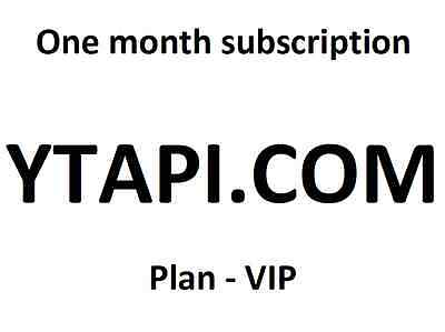 YTAPI VIP one month