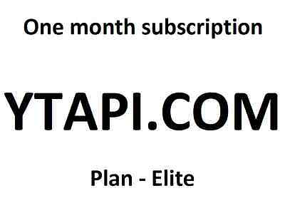 YTAPI elite one month