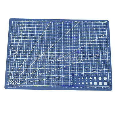 Good Quality Blue A4 Cutting Mat Printed Grid Lines Plate Non Slip Knife Board