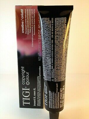 TIGI COPYRIGHT CREATIVE PERMANENT CREAM COLOR 60ML TUBE shades1 - 6