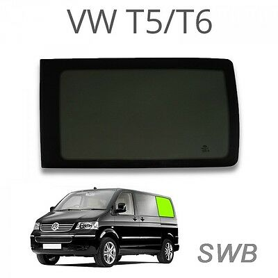Left rear quarter window (privacy) for VW T5 / T6 SWB Glass Windows for Camperva