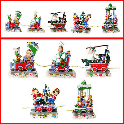 Hamilton Collection Family Guy Christmas Train Sculpture Set X 5 Limited Ed 2006